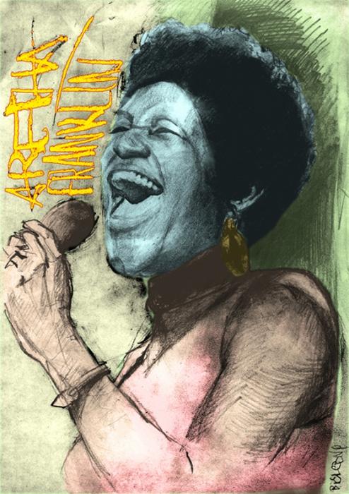 Aretha Franklin by Bielu